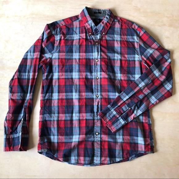 289dee3a9e86a J. Crew Other - Men s J.Crew Tartan Plaid Slim Fit Shirt - Sz